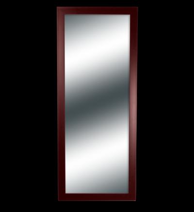 Espejo con Marco Rojizo