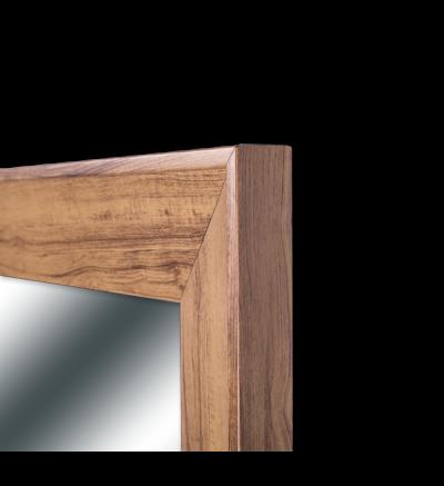 Espejo con marco ancho de 9cm color maple