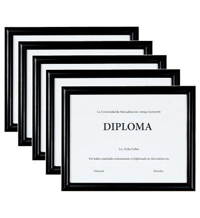 Set 5 Marcos para Diploma Negro